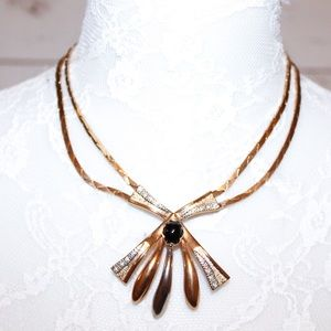 Vintage Gold Tone Costume Jewelry Necklace